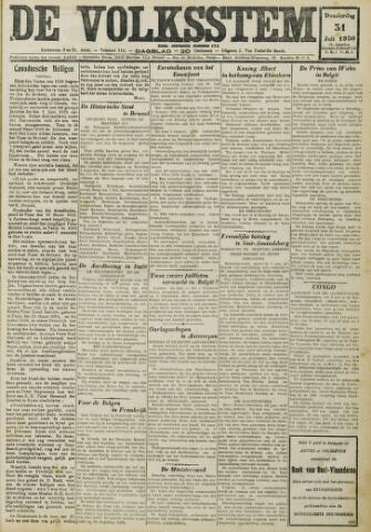 De Volksstem 1930-07-31