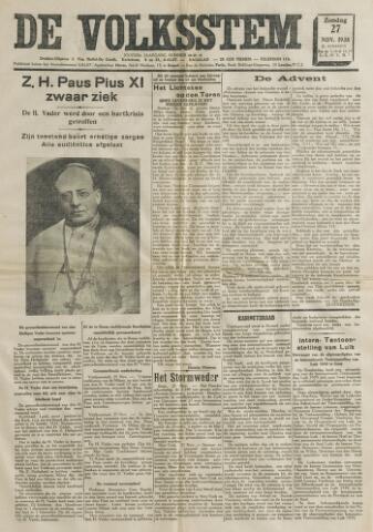 De Volksstem 1938-11-27