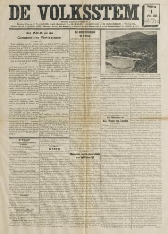De Volksstem 1938-04-01