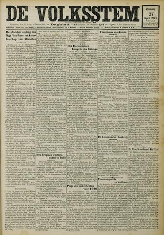 De Volksstem 1926-04-27