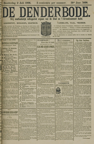 De Denderbode 1896-07-02