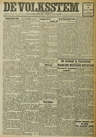 De Volksstem 1923-10-05