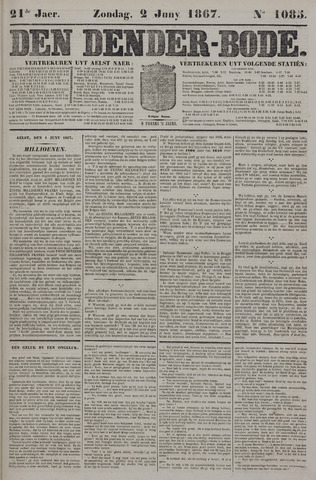 De Denderbode 1867-06-02