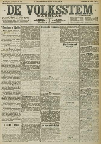 De Volksstem 1914-04-04