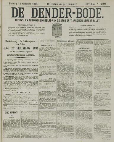 De Denderbode 1891-10-11
