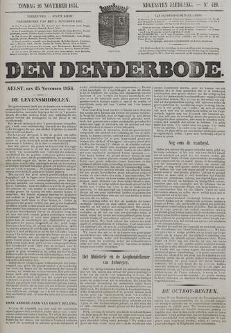 De Denderbode 1854-11-26