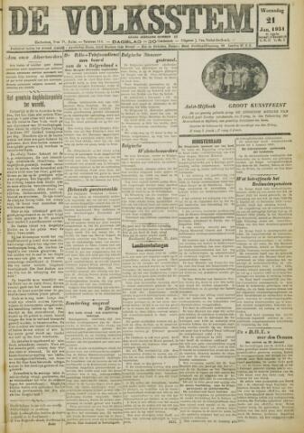 De Volksstem 1931-01-21