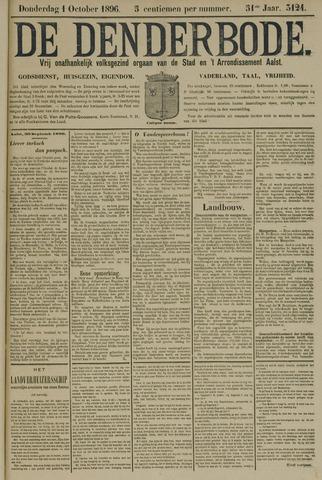 De Denderbode 1896-10-01