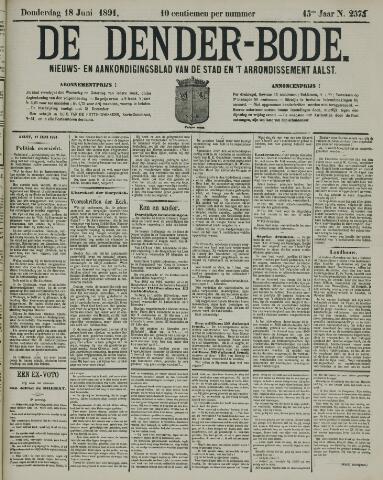 De Denderbode 1891-06-18