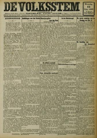 De Volksstem 1923-02-14
