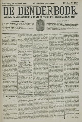 De Denderbode 1891-02-26