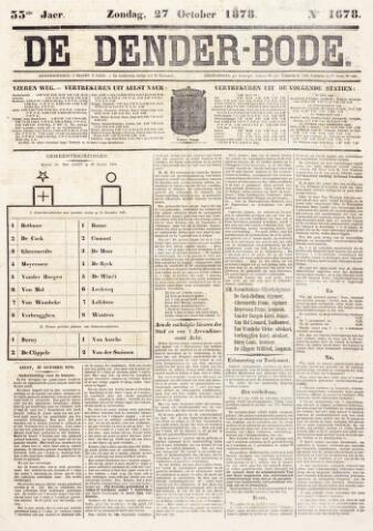 De Denderbode 1878-10-27