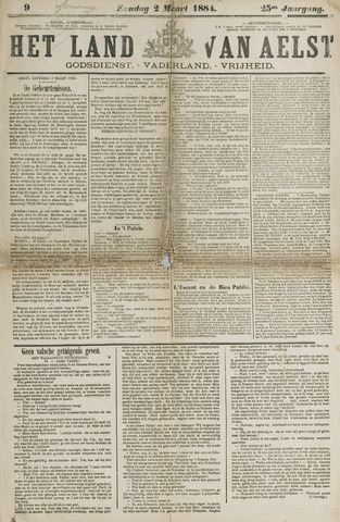 Het Land van Aelst 1884-03-02