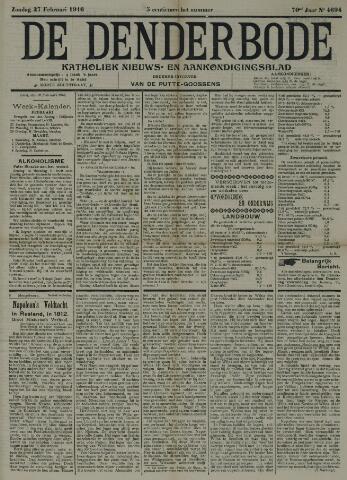 De Denderbode 1916-02-27