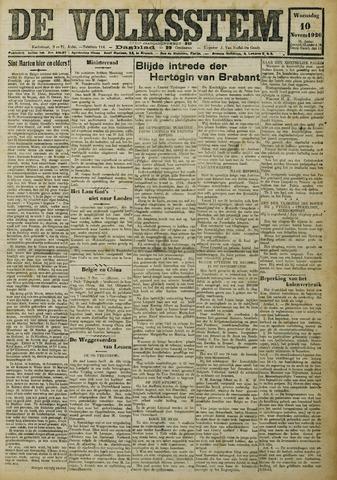 De Volksstem 1926-11-10