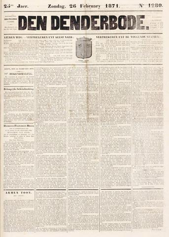 De Denderbode 1871-02-26