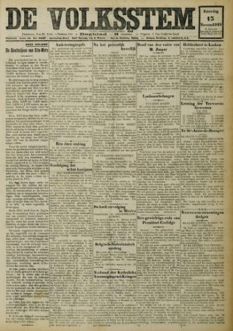 De Volksstem 1926-11-13