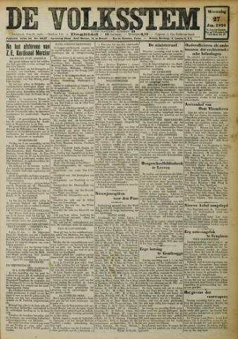 De Volksstem 1926-01-27