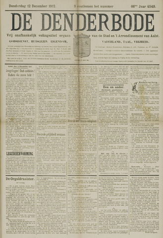 De Denderbode 1912-12-12