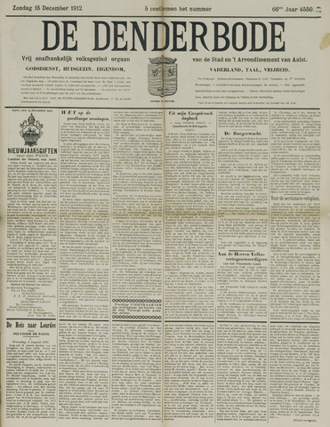 De Denderbode 1912-12-15