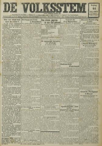 De Volksstem 1931-07-24