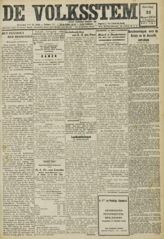De Volksstem 1931-03-21