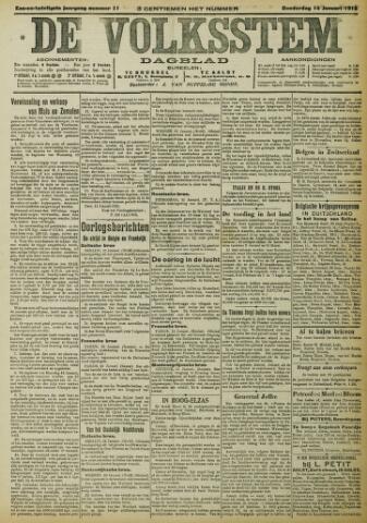 De Volksstem 1915-01-14