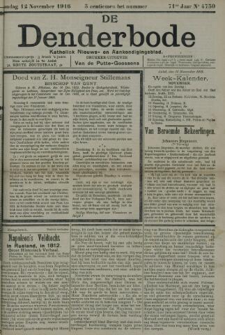 De Denderbode 1916-11-12