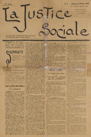 La Justice Sociale 1896