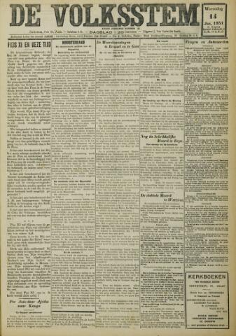 De Volksstem 1931-01-14