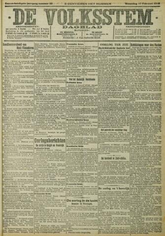 De Volksstem 1915-02-17