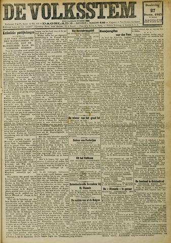De Volksstem 1923-12-27