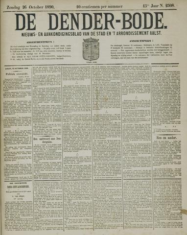 De Denderbode 1890-10-26