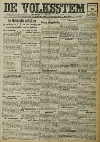 De Volksstem 1926-10-27