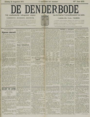 De Denderbode 1912-08-25