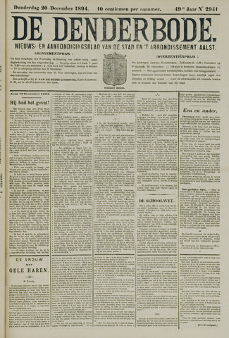 De Denderbode 1894-12-20