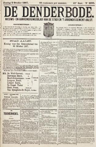 De Denderbode 1887-10-02