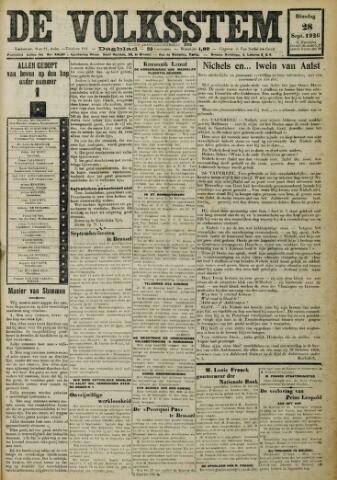 De Volksstem 1926-09-28