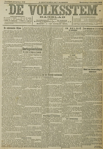 De Volksstem 1914-12-03
