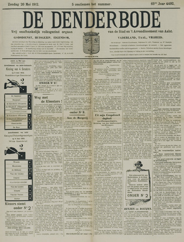 De Denderbode 1912-05-26