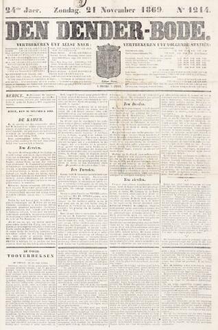 De Denderbode 1869-11-21