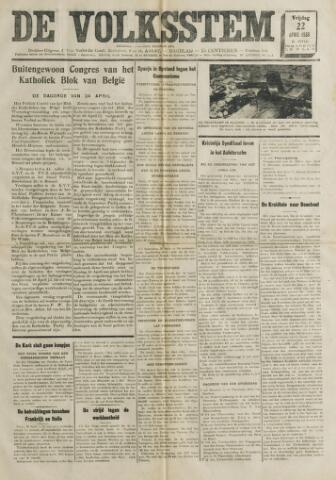 De Volksstem 1938-04-22