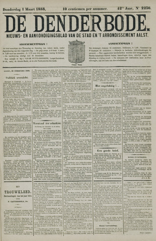 De Denderbode 1888-03-01