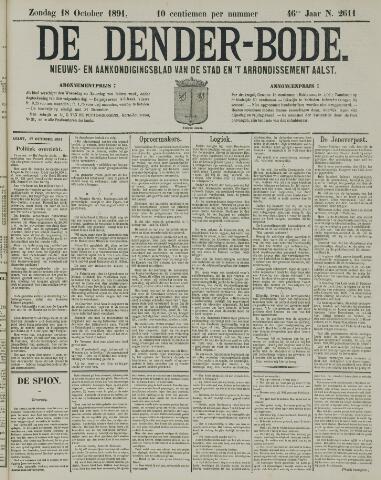 De Denderbode 1891-10-18