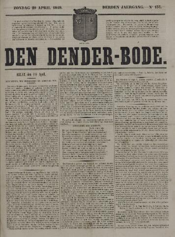 De Denderbode 1849-04-29