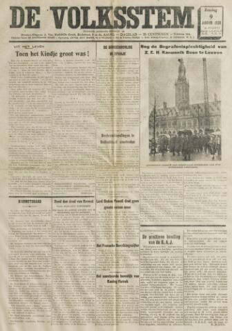 De Volksstem 1938-01-09