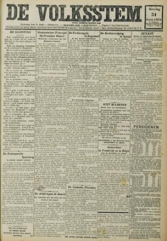 De Volksstem 1931-10-31