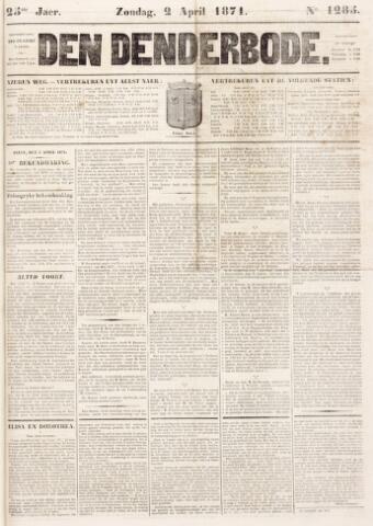 De Denderbode 1871-04-02