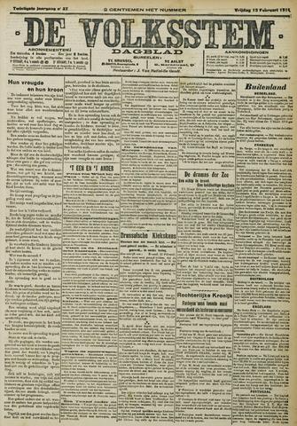 De Volksstem 1914-02-13