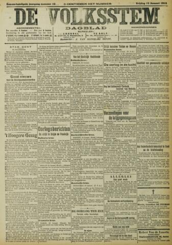 De Volksstem 1915-01-15